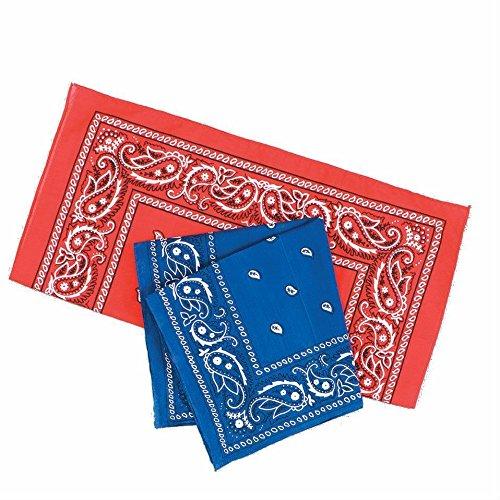 große 68cm Quadrat Baumwolle Bandana Schal rot schwarz weiß klassischen Paisley (Klassisches Bandana)
