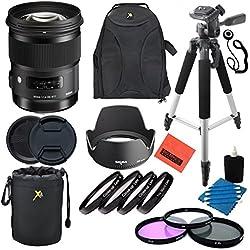 Sigma 50mm F1.4DG HSM Art Objectif pour appareils Photo réflex numériques Nikon-Kit Professionnel