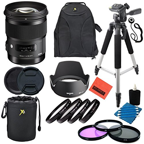 Sigma 50mm f1.4DG HSM Art Objektiv für Nikon DSLR Kameras-Professionelle Kit -