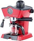 Rosenstein & Söhne Espressomaschine Retro: Dampfdruck-Siebträger-Espressomaschine ES-800.retro mit Aufschäumer