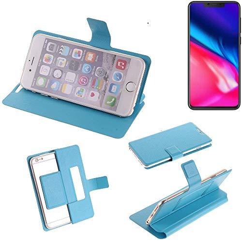 K-S-Trade Flipcover für Cubot P201 Schutz Hülle Schutzhülle Flip Cover Handy case Smartphone Handyhülle blau