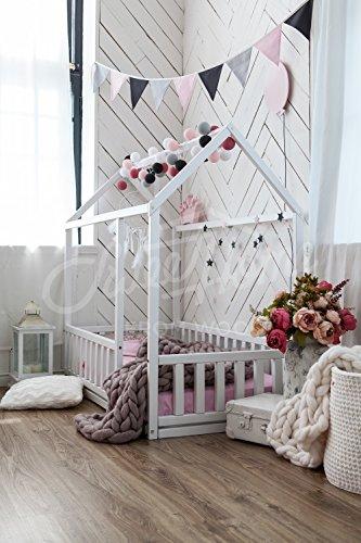 Imagen para cama montessori infantil casita, el color blanco (190x135cm)