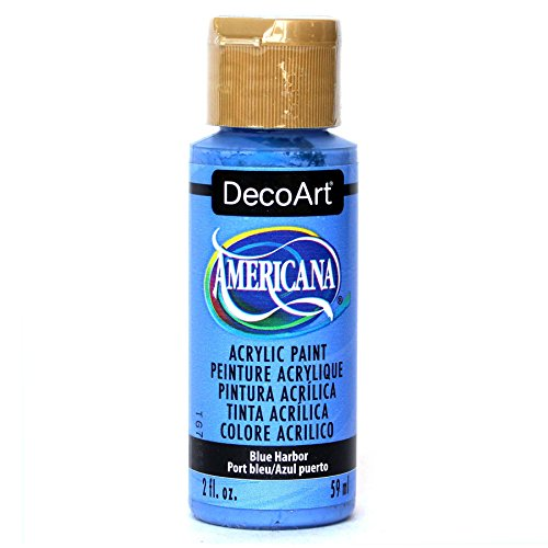 DecoArt Americana Mehrzweck-Acrylfarbe, 59 ml, Blau Harbour