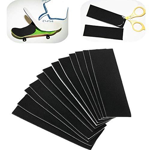 ATEZI 12PCS Holz -Fingerboard -Deck Uncut Tape Stickers Black Foam Grip Tape Stickers, Holz Mini -Fingerboards Montage Skateboard Scooter -