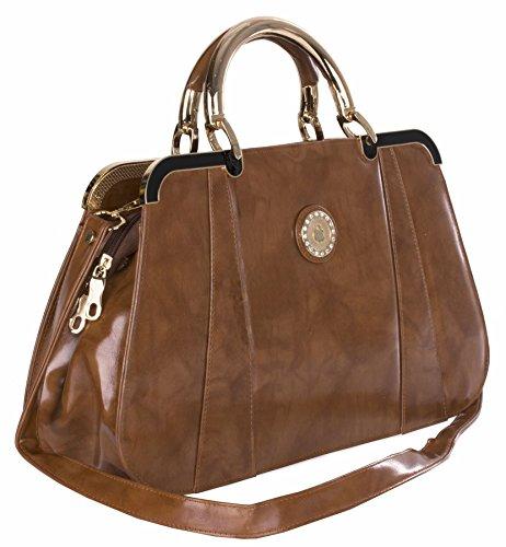 Big Handbag Shop, Borsa a mano donna Taglia unica Medium Tan