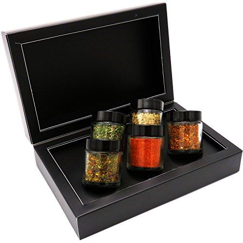 51ItRjHNQiL - Hallingers Gewürz-Set Grilllust - perfektes Geschenk für Männer - Edition 2018 | Set/Mix | 5x Miniglas in MiniDeluxe-Box | 95g