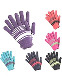 Krystle Boys|Girls Winter Woollen Gloves Pack Of 6