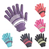 Krystle Boys|Girls Winter Multicolor Woollen Gloves Pack Of 6 For Age-6-7 Years