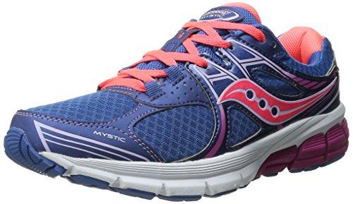 Saucony Mystic - Zapatillas de running para mujer, color azul / coral