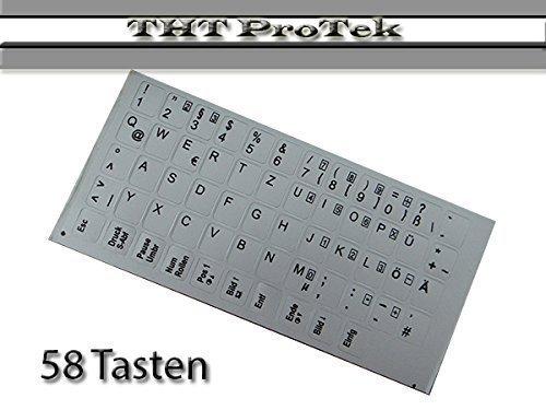 58 Taste - Farbe: silber - DEUTSCHE Tastatur Aufkleber für Notebook Sony vaio VGN , PCG, VPC