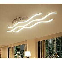 Plafoniera,Create For Life® LED Plafoniera Moderna 4000 Kelvin Stile Design Onde Luminose LED 30 Watt , Metallo e PMMA lampadario moderno.