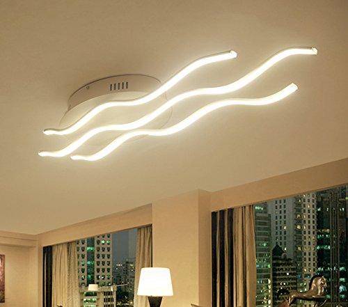 Plafoniera, LED a Soffitto Moderni,Create For Life® LED Plafoniera Moderna 4000 Kelvin Stile Design Onde Luminose LED 30 Watt, Metallo e PMMA lampadario moderno.