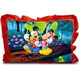 Sleep Nature's Baby Pillow For Kids|Soft Baby Pillow|Rectangle Shape|Soft Toys|Cartoon Printed|Red Colour Pillow|Pillow Size 14x20 Inches|6