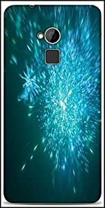 Snoogg Blue Fireworks Backgrounnd Designer Protective Back Case Cover For HTC One-Max