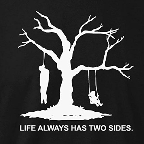 TEXLAB - Life Always Has Two Sides - Langarm T-Shirt Schwarz