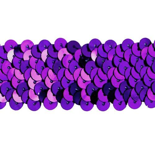 Expo International 3-reihig 1–1/4-Zoll-Metallic Stretch Pailletten Trim, 20-yard, Violett (Stretch-metallic-pailletten-trim)