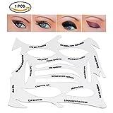 EyeLiner Stencils,17 in 1 PE Material Smokey Eye Liner Makeup Stencil Template Stamp,Multifunction Applicators Eyeshadows Make Up Tools immagine