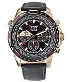 Aviator orologio per uomini Aviation sport Flight Pilot Aviator cinturino in pelle cassa in oro rosa impermeabile 10atm cronografo orologio da polso al quarzo