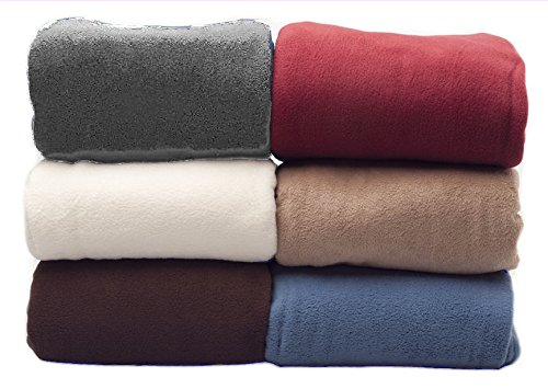 extra large double size chocolate 225 x 254cm fleece blankets sofa throw throwover light but warm available in 6 colours and 3 sizes
