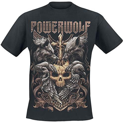 0030e8cf Powerwolf Wolves & Ravens T-Shirt Manches Courtes Noir L