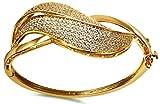 Best Aienid Paracord Bracelets - Womens Bangle Bracelets Gold Plated Gold Leaves Cut Review