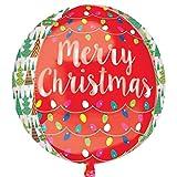 Amscan International 3396801Weihnachtsbäume und Lichter Folienballon