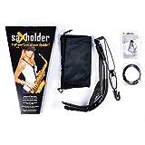 saXholder Jazzlab - Correa para saxofón, color negro
