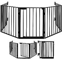 Deuba Fireplace Guard Folding Fireguard with Gate 310 cm Stove Fire Firescreen Fence Surround Safety Barrier