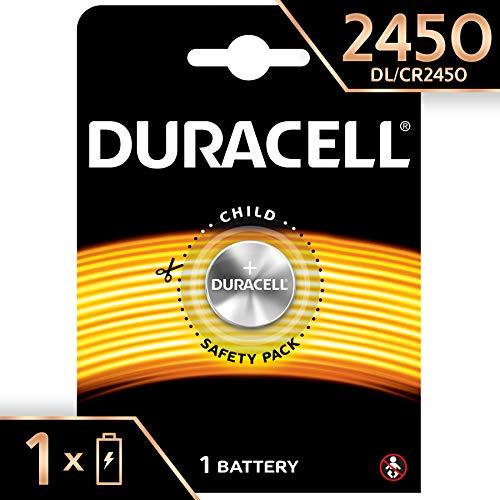Duracell CR2450 /DL2450 Specialty Lithium-Knopfzelle 3V, (entwickelt für die Verwendung in Schlüsselanhängern, Waagen, Wearables und medizinischen Geräten) 1er-Packung (Duracell Batterien 1616)