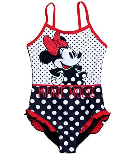 Minnie Mouse Bademode Badeanzug Mädchen Disney (Blau, Gr.- 104/ 4 Jahre ans)
