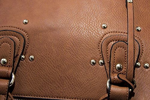 Big Handbag Shop, Borsa a mano donna One Taupish - Coffee (BH389)