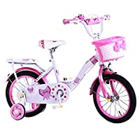 KidisaTM Kids Bike Pink Girls Bike 14 Inch Bicycle With Removable Stabilizer