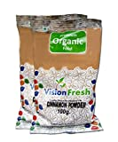 #4: Vision Fresh Organic Cinnamon Powder (Dalchini) - 200 grams - Pack of 2 (100 gram Each)