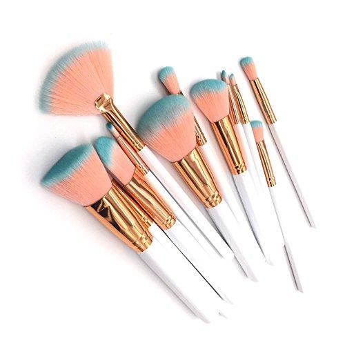 Vi.yo 12 Pcs ensemble de pinceaux de maquillage professionnel fond de teint fard à paupières brosses ensemble d'outils pour le visage et les yeux (style 1)