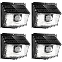 Mpow 30 LED Solar Lights, Outdoor Motion Sensor Lights with 19.5% High-efficient Solar Panel, 270° Wide Illumination Angle For Front Door, Yard, Garden, Garage, Fence,Pack of 4
