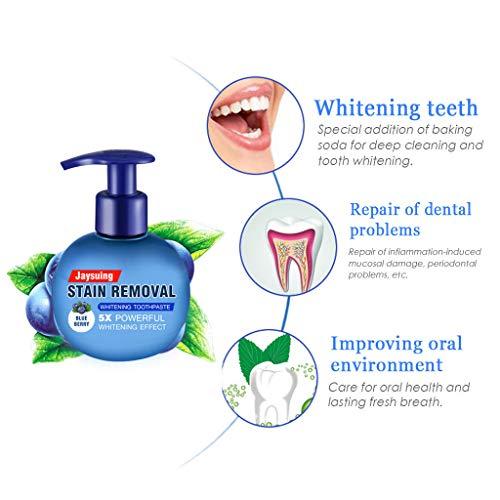 Cwemimifa Bright toothgel Aloe Vera Zahngel 3 x 100 ml Toothgeel, Fleckenentfernung Whitening Zahnpasta gegen Zahnfleischbluten Zahnpasta, Blau - Ein Strahlendes Lächeln Zahnaufhellung