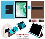 reboon Hülle für Blaupunkt Endeavour 1010 Tasche Cover Case Bumper | in Braun | Testsieger