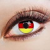 aricona Kontaktlinsen farbige Kontaktlinsen - Fußball Fanartikel Deutschland Flagge farbige Kontaktlinsen WM