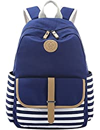 adbd7bb1dd S-ZONE French Breton Nautical Striped Backpack Rucksack Marine Sailor Navy  Stripy School Bags for