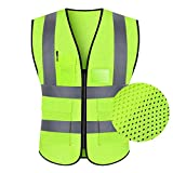 Shop-4 Reflektierende Sicherheitskleidung- Warnweste, Warnweste Sicherheitskleidung Verkehr Reitjacke Hygiene Arbeiter Fluoreszierende Anzug Autofahrer Männer Und Frauen (Farbe : C)