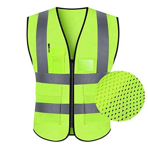 Jian E - & Reflektierende Weste - Reflektierende Weste Sicherheitskleidung Verkehr Reiten Jacke Hygiene Arbeiter Fluoreszierende Anzug Autofahrer Männer Und Frauen (Multi-Color-Auswahl) /-/