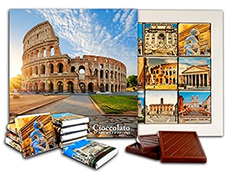 DA CHOCOLAT Candy Souvenir ROME Set cadeau chocolat 13x13cm 1 boîte (Colisée)