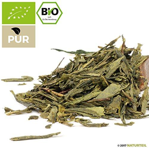 100 g Sencha Grüner Tee Bio – im aromadichten & wiederverschließbaren Beutel – Natürlich Tee by Naturteil