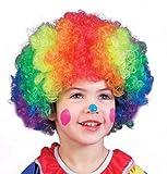 Best Fun World Costume Wigs - Kids Multicolor Clown Wig - Child Std Review