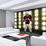 Vlies Fototapete – Football Spieler im Flutlicht - 6