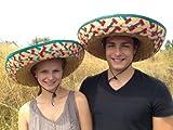 Sombrero - 2 pièces, coloré, chapeau mexicain, poncho, set-sombrero