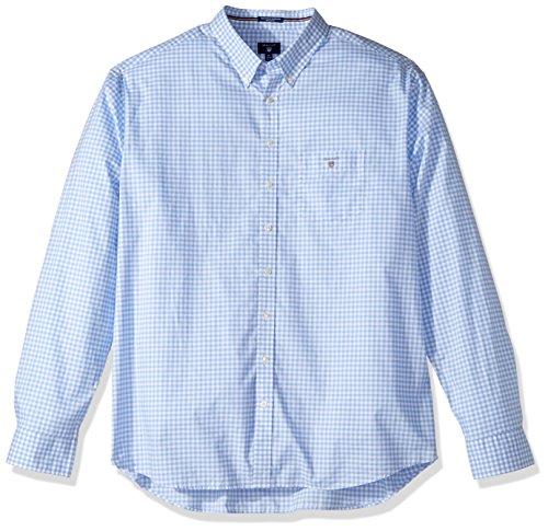 GANT Herren Freizeithemd The Poplin Gingham Check LS BD Blau (HAMPTONS BLUE 420)