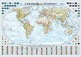Cartina poster il mondo su Internet