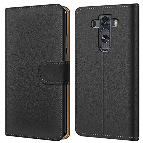Conie BW15867 Basic Wallet Kompatibel mit LG G3 S, Booklet PU Leder Hülle Tasche mit Kartenfächer und Aufstellfunktion für G3 S Case Schwarz