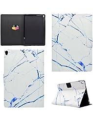 Coque iPad Pro 10.5, BONROY® Smart Case Coque pour iPad Pro 10.5 TPU Souple Bumper Fermeture Magnétique avec Function Veille Automatique Etui Housse Case Cover pour iPad Pro 10.5 - marbre blanc